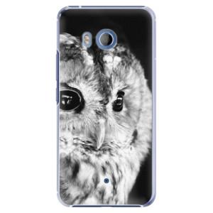 Plastové pouzdro iSaprio BW Sova na mobil HTC U11