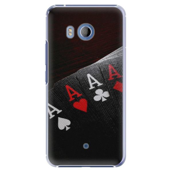 Plastové pouzdro iSaprio Poker na mobil HTC U11 (Plastový kryt, obal, pouzdro iSaprio Poker na mobilní telefon HTC U11)