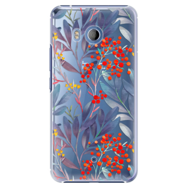 Plastové pouzdro iSaprio Jeřabiny na mobil HTC U11 (Plastový kryt, obal, pouzdro iSaprio Jeřabiny na mobilní telefon HTC U11)