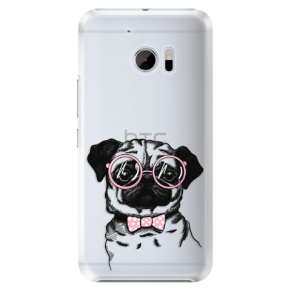 Plastové pouzdro iSaprio Mops na mobil HTC 10 (Plastový kryt, obal, pouzdro iSaprio Mops na mobilní telefon HTC 10)