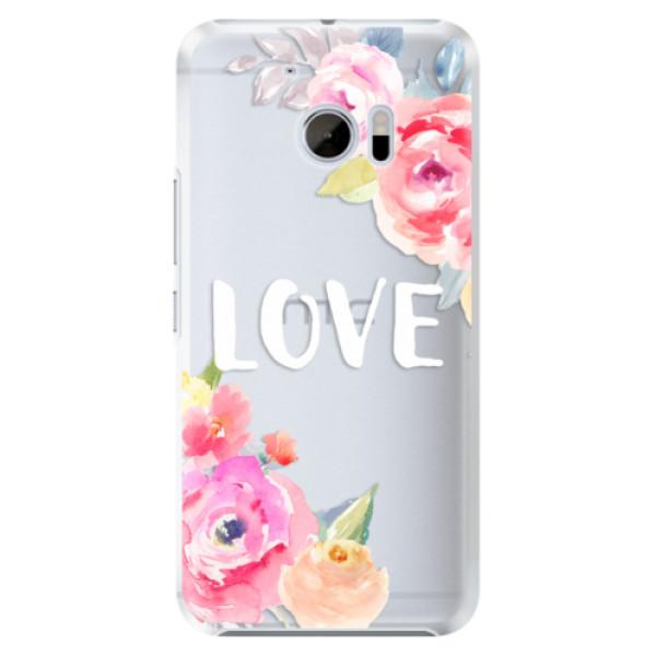 Plastové pouzdro iSaprio Love na mobil HTC 10 (Plastový kryt, obal, pouzdro iSaprio Love na mobilní telefon HTC 10)