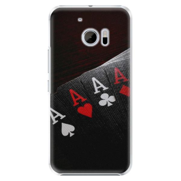 Plastové pouzdro iSaprio Poker na mobil HTC 10 (Plastový kryt, obal, pouzdro iSaprio Poker na mobilní telefon HTC 10)