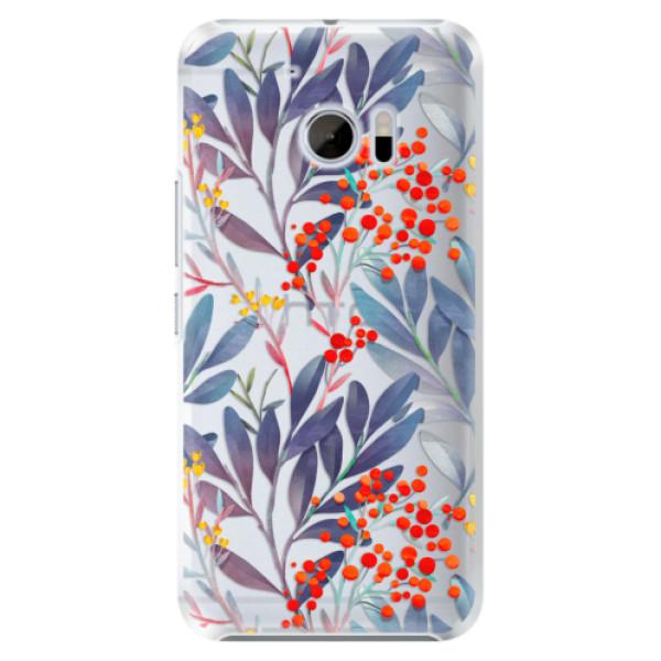 Plastové pouzdro iSaprio Jeřabiny na mobil HTC 10 (Plastový kryt, obal, pouzdro iSaprio Jeřabiny na mobilní telefon HTC 10)