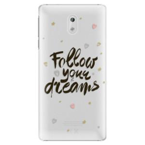 Plastové pouzdro iSaprio Follow Your Dreams černý na mobil Nokia 3