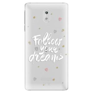 Plastové pouzdro iSaprio Follow Your Dreams bílý na mobil Nokia 3