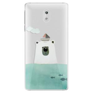 Plastové pouzdro iSaprio Bear With Boat na mobil Nokia 3