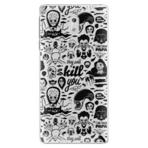 Plastové pouzdro iSaprio Komiks 01 black na mobil Nokia 3