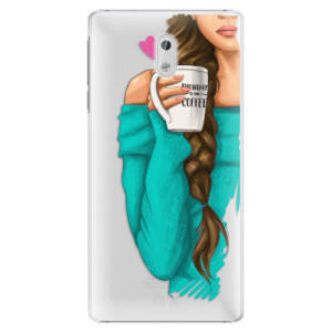 Plastové pouzdro iSaprio Brunetka s kafčem na mobil Nokia 3
