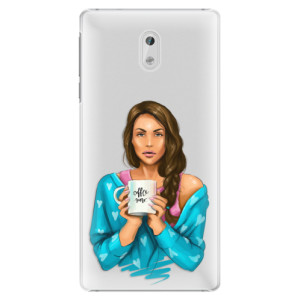 Plastové pouzdro iSaprio Coffee Now Brunetka na mobil Nokia 3