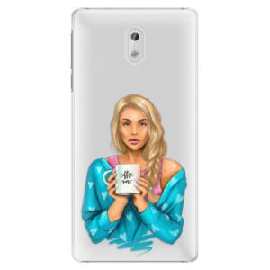 Plastové pouzdro iSaprio Coffee Now Blondýna na mobil Nokia 3