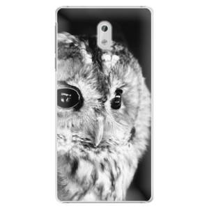 Plastové pouzdro iSaprio BW Sova na mobil Nokia 3