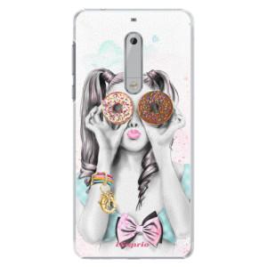 Plastové pouzdro iSaprio Donutky Očiska 10 na mobil Nokia 5