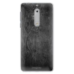 Plastové pouzdro iSaprio black Wood 13 na mobil Nokia 5