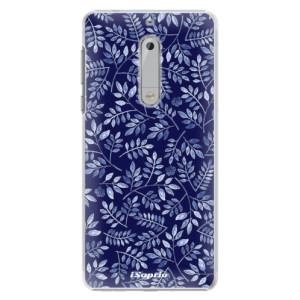 Plastové pouzdro iSaprio Blue Leaves 05 na mobil Nokia 5