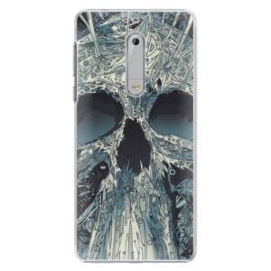 Plastové pouzdro iSaprio Abstract Skull na mobil Nokia 5