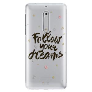 Plastové pouzdro iSaprio Follow Your Dreams černý na mobil Nokia 5