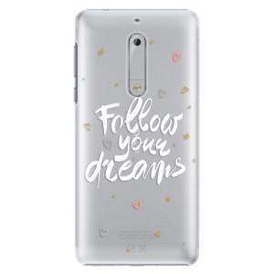 Plastové pouzdro iSaprio Follow Your Dreams bílý na mobil Nokia 5