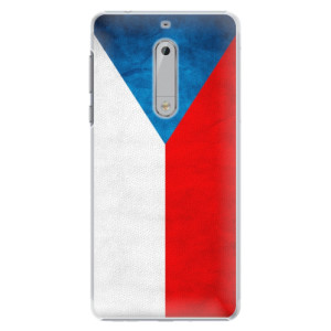Plastové pouzdro iSaprio Česká Vlajka na mobil Nokia 5