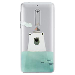 Plastové pouzdro iSaprio Bear With Boat na mobil Nokia 5