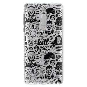 Plastové pouzdro iSaprio Komiks 01 black na mobil Nokia 5