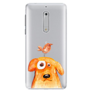 Plastové pouzdro iSaprio Pejsek a Ptáček na mobil Nokia 5