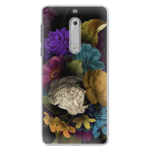 Plastové pouzdro iSaprio Temné Květy na mobil Nokia 5