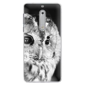Plastové pouzdro iSaprio BW Sova na mobil Nokia 5