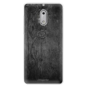 Plastové pouzdro iSaprio black Wood 13 na mobil Nokia 6