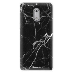 Plastové pouzdro iSaprio black Marble 18 na mobil Nokia 6