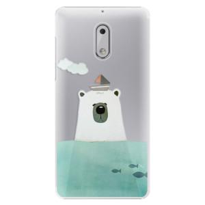 Plastové pouzdro iSaprio Bear With Boat na mobil Nokia 6