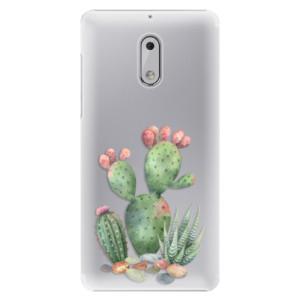 Plastové pouzdro iSaprio Kaktusy 01 na mobil Nokia 6
