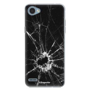 Plastové pouzdro iSaprio Broken Glass 10 na mobil LG Q6