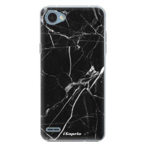 Plastové pouzdro iSaprio black Marble 18 na mobil LG Q6