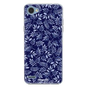 Plastové pouzdro iSaprio Blue Leaves 05 na mobil LG Q6