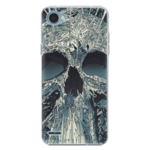 Plastové pouzdro iSaprio Abstract Skull na mobil LG Q6