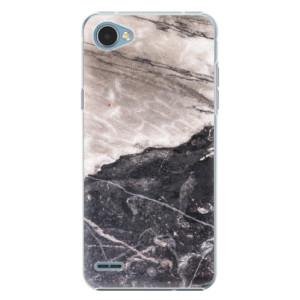 Plastové pouzdro iSaprio BW Marble na mobil LG Q6