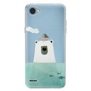 Plastové pouzdro iSaprio Bear With Boat na mobil LG Q6