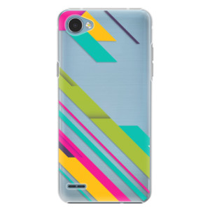 Plastové pouzdro iSaprio Barevné Pruhy 03 na mobil LG Q6