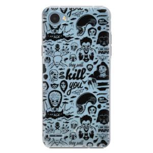 Plastové pouzdro iSaprio Komiks 01 black na mobil LG Q6