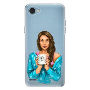 Plastové pouzdro iSaprio Coffee Now Brunetka na mobil LG Q6