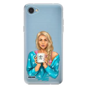Plastové pouzdro iSaprio Coffee Now Blondýna na mobil LG Q6