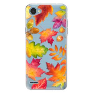 Plastové pouzdro iSaprio Autumn Leaves 01 na mobil LG Q6