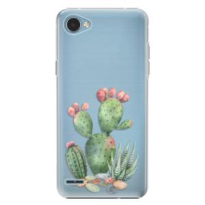 Plastové pouzdro iSaprio Kaktusy 01 na mobil LG Q6