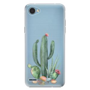 Plastové pouzdro iSaprio Kaktusy 02 na mobil LG Q6