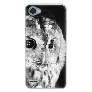 Plastové pouzdro iSaprio BW Sova na mobil LG Q6