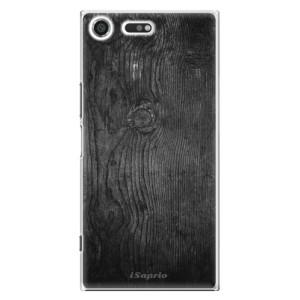 Plastové pouzdro iSaprio black Wood 13 na mobil Sony Xperia XZ Premium
