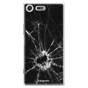 Plastové pouzdro iSaprio Broken Glass 10 na mobil Sony Xperia XZ Premium