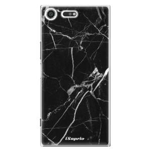Plastové pouzdro iSaprio black Marble 18 na mobil Sony Xperia XZ Premium