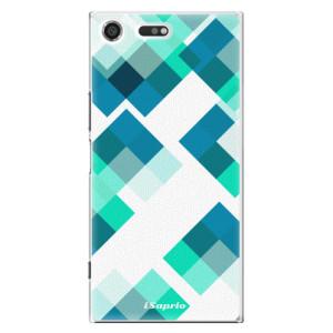 Plastové pouzdro iSaprio Abstract Squares 11 na mobil Sony Xperia XZ Premium