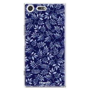 Plastové pouzdro iSaprio Blue Leaves 05 na mobil Sony Xperia XZ Premium